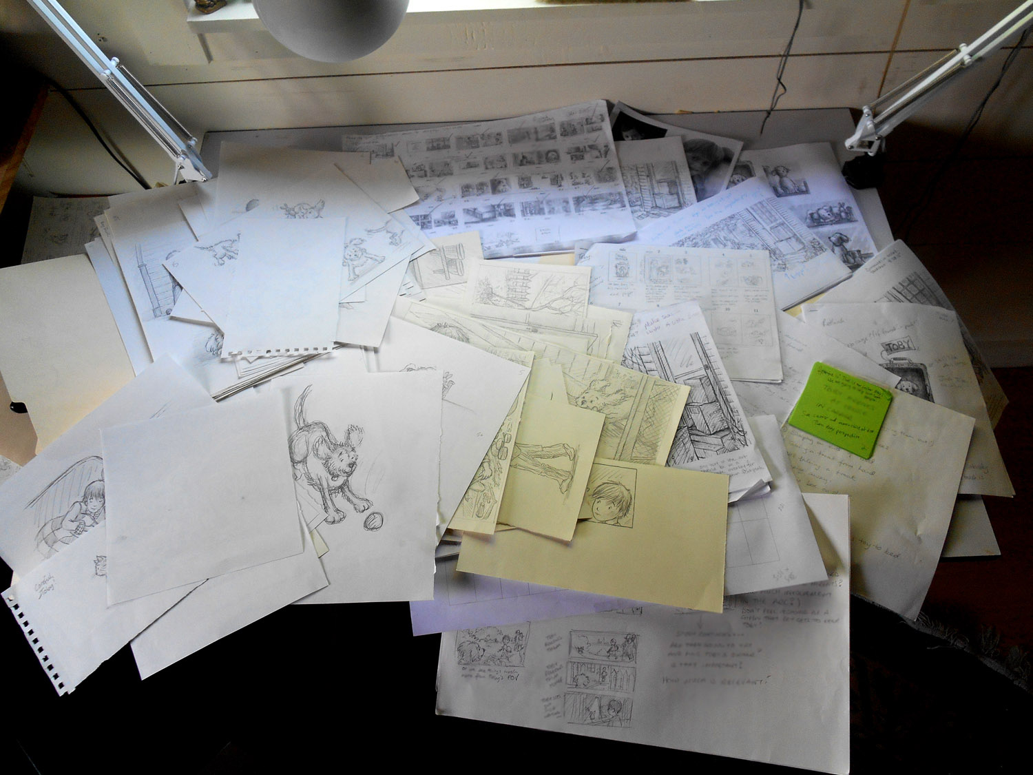 A lot of drawings