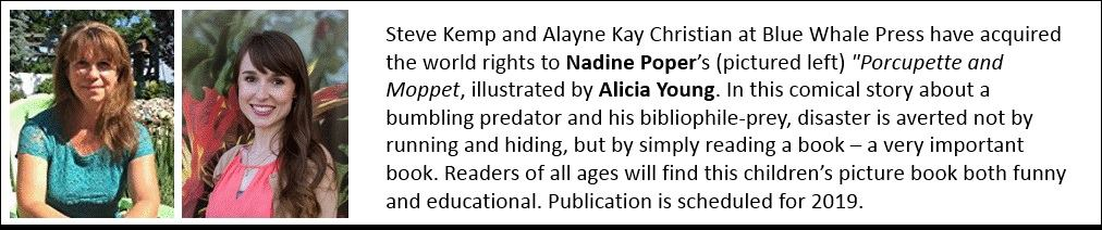 Nadine Poper - Publisher's Weekly announcement