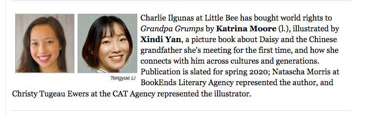 Katrina Moore_GRANDPA GRUMPS_PW Childrens Bookshelf Announcement