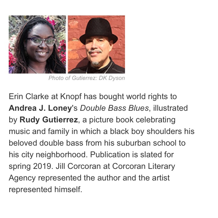 12 x 12 Andrea J Loney Double Bass Blues Announcement