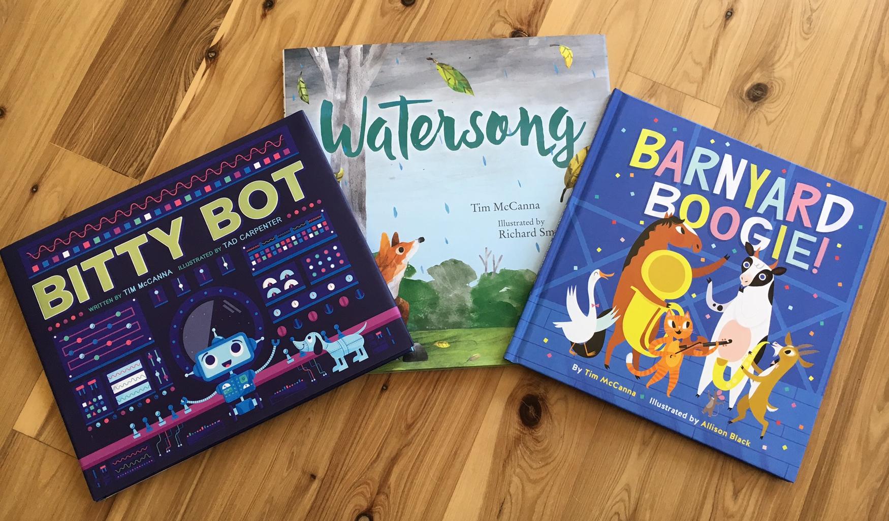 Bitty Bot, Watersong, Barnyard Boogie by Tim McCanna