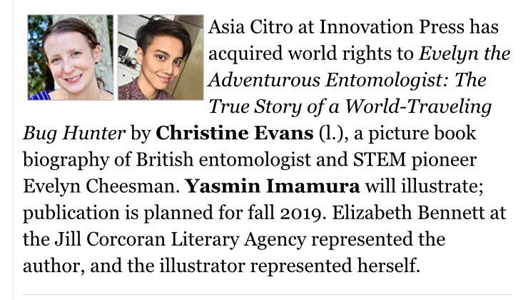 Christine Evans - Book Contract 9-2018