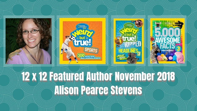 12 X 12 Featured Author November 2018 – Alison Pearce Stevens