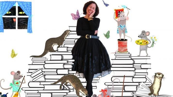 12 x 12 Vivian Kirkfield with characters