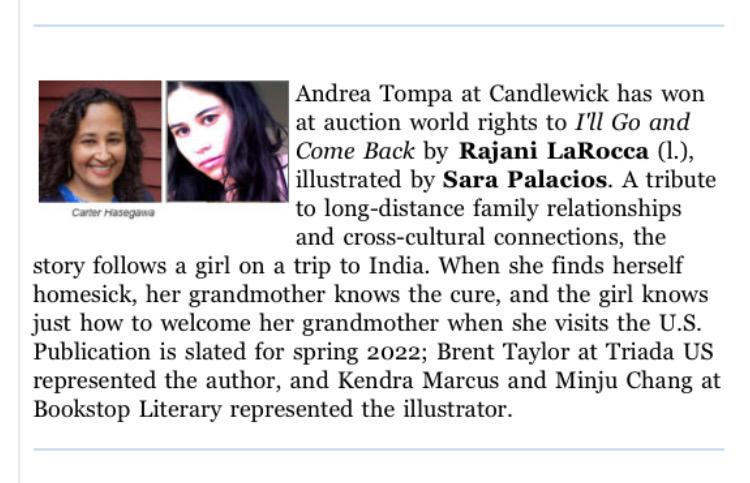 Rajani LaRocca Book Contract