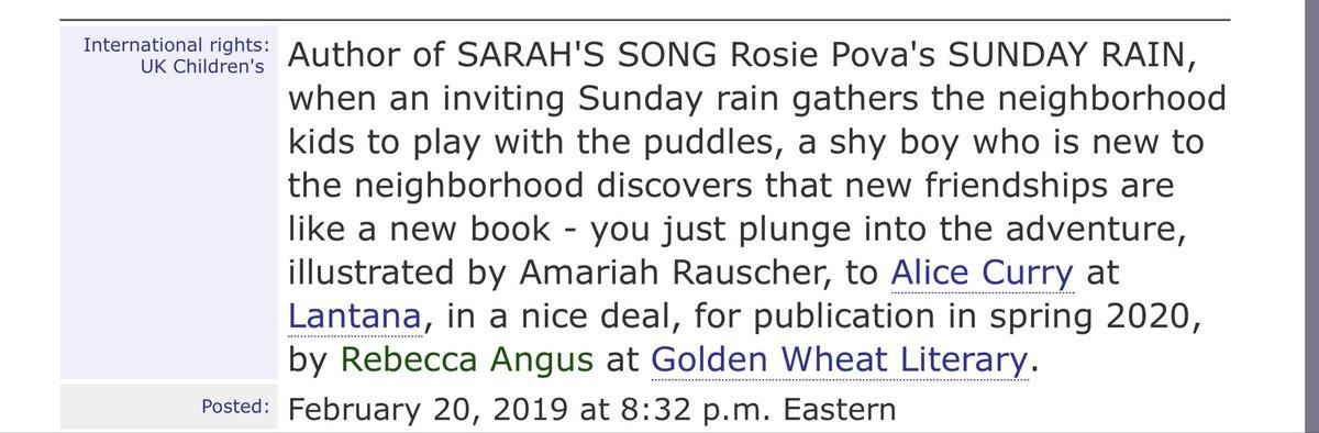 Rosie Pova Book Contract