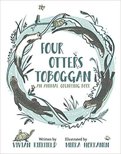 FOUR OTTERS TOBOGGAN