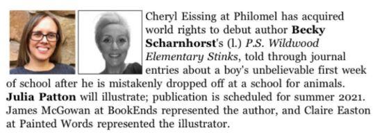 Scharnhorst Deal Announcement P.S. Wildwood Elementary Stinks